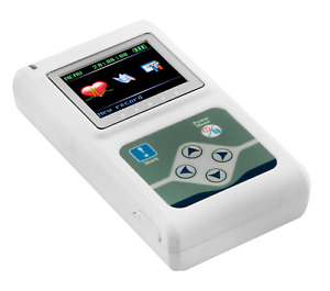 Portable 12 channel 24h Ecg Ekg Holter Analyze System Recorder Software Monitor