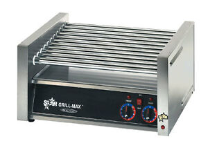 Star 30c Chrome Plated Infinite Control 30 Hot Dog Roller Grill