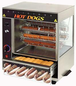Star 175cba Hot Dog Bun Broiler W Cradle Wheel 36 Dogs 32 Buns Cap