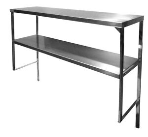 48 x16 Stainless Steel Double Overshelf For Worktable