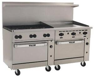 Vulcan 72ss 6b36gt 72 Range 6 Burners 36 Thermostatic Griddle W 2 Ovens