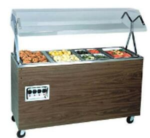 Vollrath T38937 3 Well Hot Food Steam Table Portable Walnut W Storage