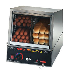 Star 35ssa Hot Dog Machine 170 Hot Dog Steamer 18 Bun Warmer