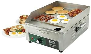 Waring Wgr140x 14in Countertop Griddle Stainless Electric 1800w