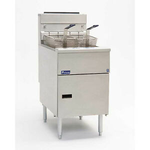 Pitco Sg18s sstc Solstice 70 90lb Gas Fryer W S s Tank Solid Sta