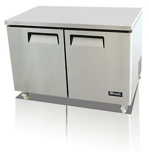 Migali C u48f hc 12 Cu ft Ss Under counter Freezer Two Solid Doors