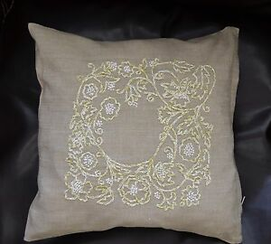 Vintage Hand Embroidered Pillowcase Romance