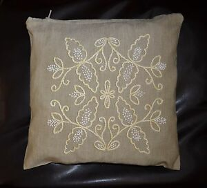 Vintage Hand Embroidered Pillowcase Symmetry