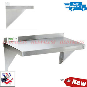 18 Gauge Stainless Steel 12 X 24 Solid Wall Shelf New Fast Shipping