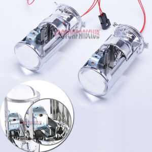 2x Mini H4 Bi Xenon Projector Lens Headlight Hid Xenon Conversion Kit Hi Lo Beam