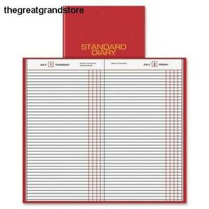 Standard Diary Recycled Daily Journal Red 2013 Page Size Paper Day Week Line