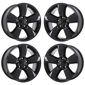 20 Dodge Ram 1500 Truck Black Wheels Rims Factory Oem 2015 2016 2017 2018 2495