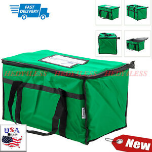 23 X 13 X 15 Green Insulated Nylon Food Delivery Bag Pan Carrier