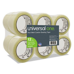 Universal Heavy duty Box Sealing Tape 48mm X 50m 3 Core Clear 12 pack