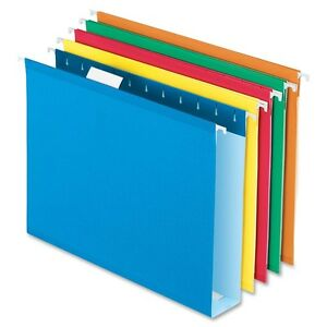 Pendaflex Colored Box Bottom Hanging Folder 2 Folder Capacity 2 Binder