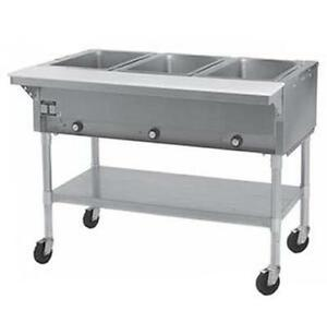Eagle Group Sht3 x Electric Three Sealed Well Hot Food Steam Table