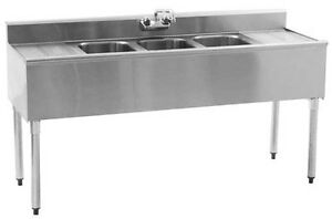 Eagle Group B6c 4 18 x Ss Underbar Sink Unit 4 Compartment 72in X 20in