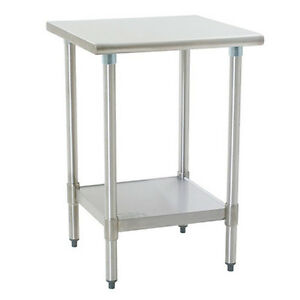 Eagle Group T2424seb 1x Deluxe Work Table 24in X 24in Stainless Steel Work Top