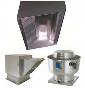 Superior Hoods 12ft Restaurant Hood System W Make up Air Exhaust Fans