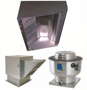 Superior Hoods 10ft Restaurant Hood System W Make up Air Exhaust Fans