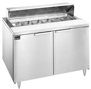 Randell 9305 290 48 Dual Door Sandwich Salad Prep Cooler 12 Pan Capacity