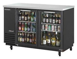 Turbo Air Tbb 2sg n 19cf Back Bar Cooler Black Vinyl Exterior With 2 Glass Doors
