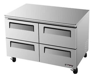 Turbo Air 48 Undercounter Cooler Refrigerator 4 Drawer Tur 48sd d4