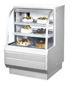 Turbo Air 36 5 Curved Glass Refrigerated Bakery Display Case Cooler Tcgb 36 2