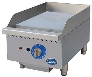 Globe Gg15g 15 Counter Top Natural Gas Griddle With Manual Controls