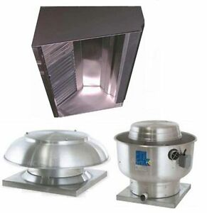 Superior Hoods S9hp 9ft Restaurant Hood System W Make up Air Exhaust Fans