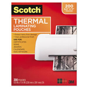 Scotch Letter Size Thermal Laminating Pouches 3 Mil 11 2 5 X 8 9 10 200