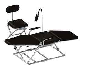 Missionary Dental Portable Chair W case Light Tray Cuspidor Stool