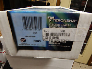 Tekonsha Electric Trailer Brake Shoes 5003 New In Package Fits 10 X 2 1 4