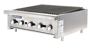 Radiance Tarb 30 30 Counter Top Radiant Gas Commercial Broiler 75 000 Btu