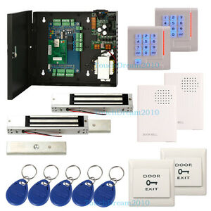 2 Door Tcp Entry Door Access Control System White Rfid Keypad Reader door Bell