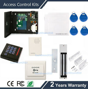 Single Door Security Card Access System Kit With 600lbs Magnetic Lock power Box