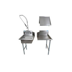 Bk Resources Bkdtk 26 l g 26 Stainless Steel Dish Table Clean Room Kit