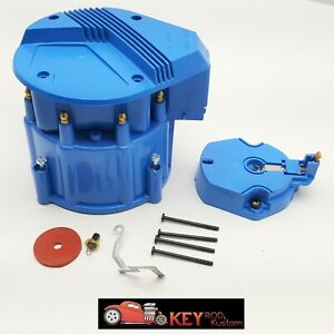 Gm Hei Blue Distributor Cap Rotor Set V8 Sbc Bbc Replacement Chevy Ford Mopar