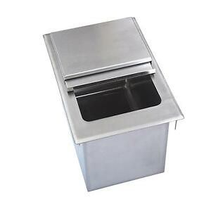 Bk Resources Bk dibl 3418 34 wx18 dx14 3 8 d Stainless Steel Drop in Ice Bin