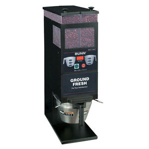 Bunn 33700 0001 Coffee Bean Grinder Two 6lb Hoppers Digital Portion Control