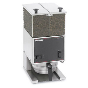 Bunn 26800 0000 Coffee Bean Grinder Two 3lb Hoppers Low Profile
