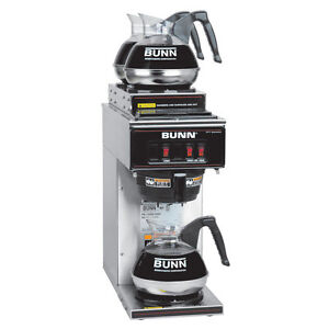 Bunn 13300 0004 Coffee Maker Pourover Low Profile W 3 Warmers Nsf