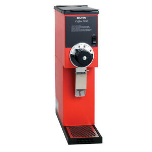 Bunn 22102 0001 2lb Bulk Coffee Bean Grinder Red