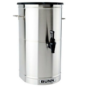 Bunn 34100 0001 Iced Tea Dispenser 5 Gallon Urn W Solid Plastic Lid