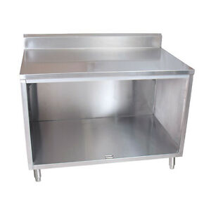 Bk Resources Bkdcr5 2448 48 w X 24 d Stainless Steel Cabinet Base Work Table