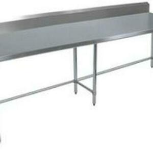Bk Resources Svtr5ob 9630 96 wx30 d All Stainless Steel Work Open Base Table