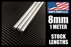 8mm X 1000mm Linear Shafts rods Hard Chrome Meter Stock For Cnc 3d Printers