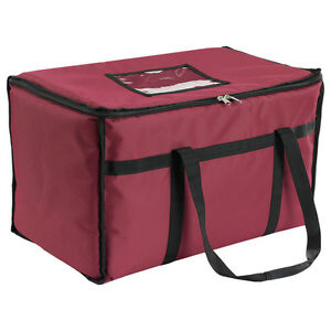 San Jamar Fc2212 rd 22in X 12in X 12in Insulated Food Carrier Burgundy
