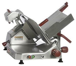 Berkel 829a plus 14 1 2 Hp Manual Gravity Feed Economy Slicer W Interlock