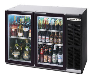 Beverage air 12 1 Cuft Two Section Black Finish Shallow Depth Bar Cooler